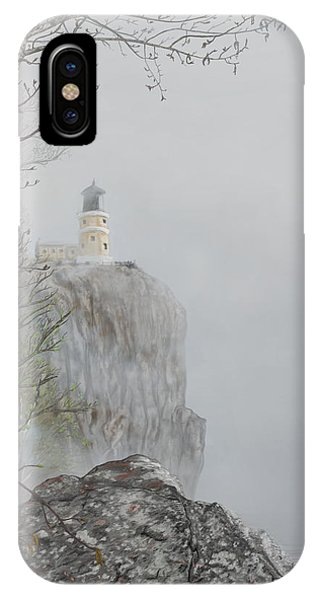 North Shore Lighthouse In The Fog IPhone Case