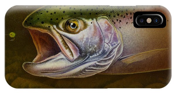 Trout iPhone Case - North Shore Steelhead by JQ Licensing