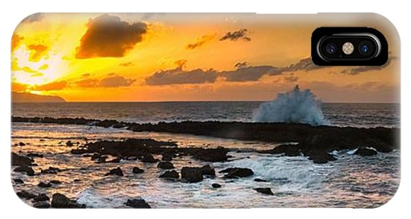North Shore Sunset Crashing Wave IPhone Case