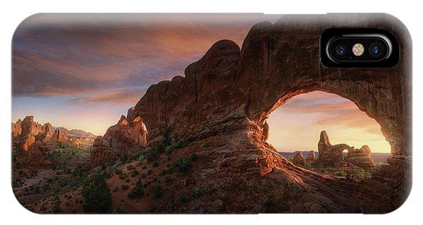 Us National Parks iPhone Case - North Windows by Juan Pablo De