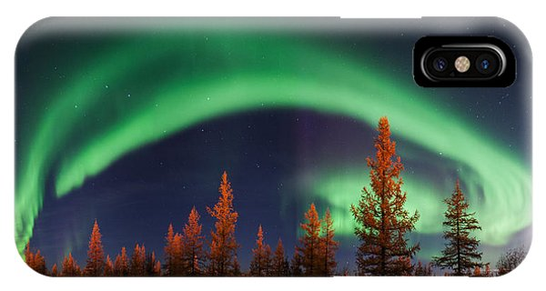 Asia iPhone Case - Northern Lights by Andrey Snegirev