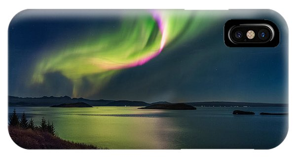 Northern Lights Over Thingvallavatn Or IPhone Case
