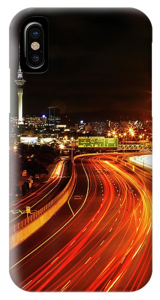 Commute iPhone Case - Northern Motorway And Skytower by David Wall
