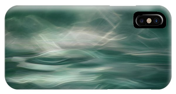 Smoke Fantasy iPhone Case - Northern Winter Lights by Willy Marthinussen