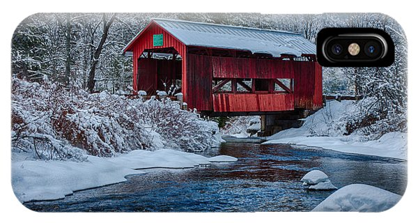 Northfield Vermont Covered Bridge IPhone Case