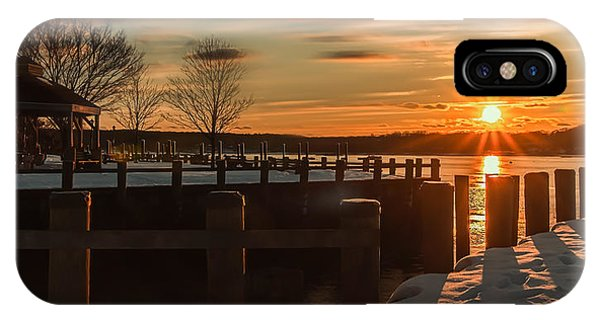 Northport New York Winter Sunset IPhone Case