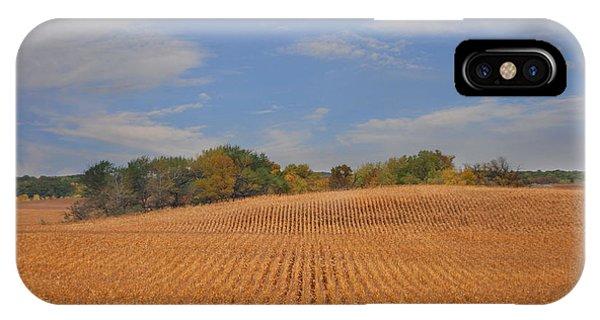 Northwest Iowa Golden Corn Field IPhone Case