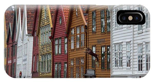 Window Shopping iPhone Case - Norway, Bergen Warehouse Architecture by Kymri Wilt
