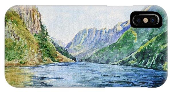 Rocky Mountain iPhone Case - Norway Fjord by Irina Sztukowski