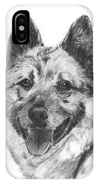 Norwegian Elkhound Sketch IPhone Case