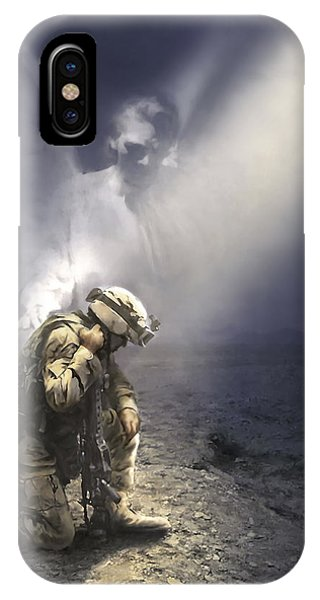 Christian Cross iPhone Case - Not Alone by Danny Hahlbohm