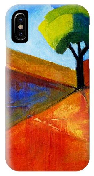 Rectangles iPhone X Case - Not Alone by Nancy Merkle