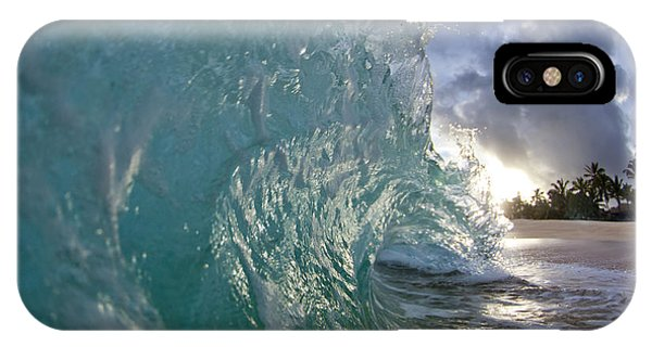 Water iPhone Case - Coconut Curl by Sean Davey