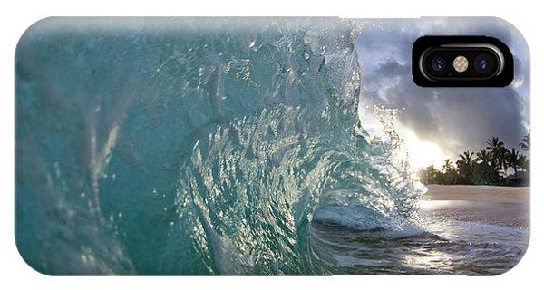 Water Ocean iPhone Case - Coconut Curl by Sean Davey