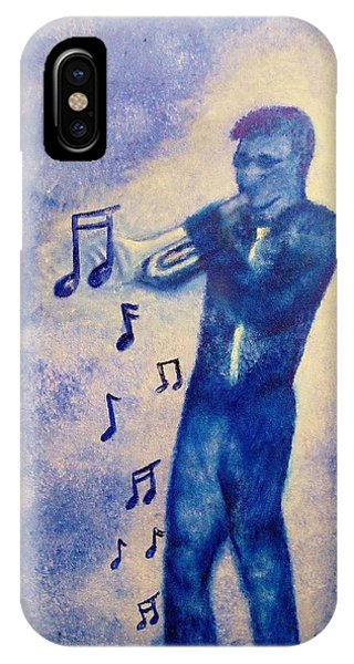 Notes Of Blue IPhone Case