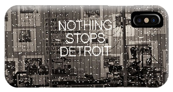 Nothing Stops Detroit  IPhone Case