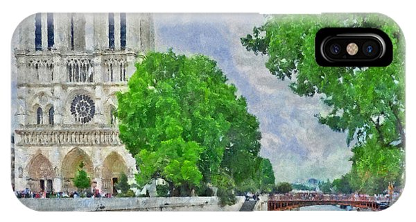 Notre Dame And The River Seine IPhone Case