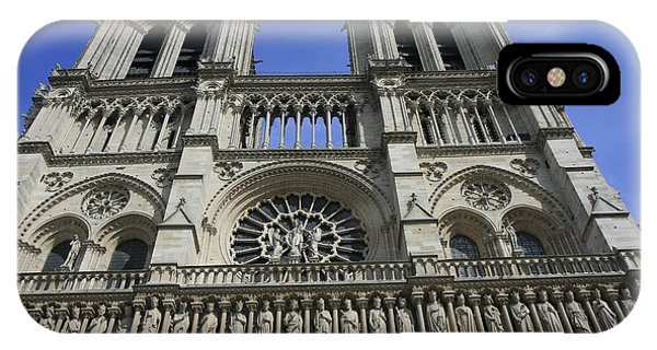 Notre Dame Cathedral Front View IPhone Case
