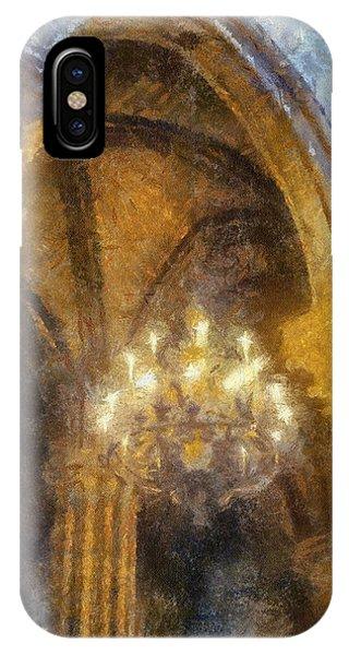 Notre-dame Chandelier Phone Case by Rick Lloyd