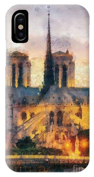 Mo iPhone Case - Notre Dame De Paris by Mo T