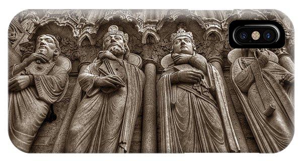 Notre Dame Facade Detail IPhone Case