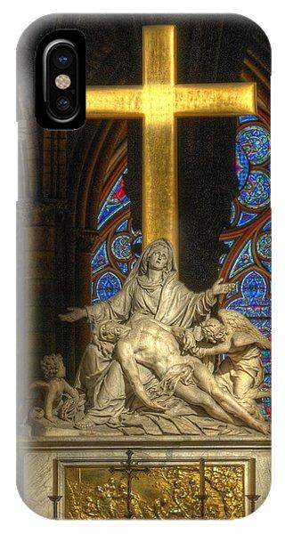 Notre Dame Pieta IPhone Case