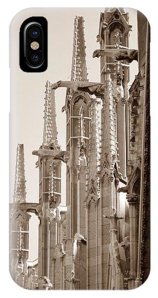 Notre Dame Sentries Sepia IPhone Case
