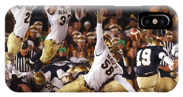 Naval Academy iPhone Case - Notre Dame Versus Navy by Mountain Dreams