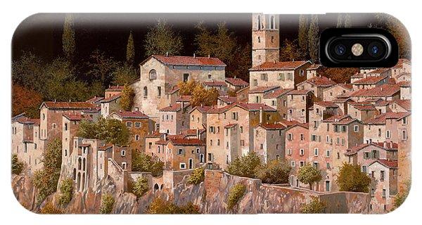 Village iPhone Case - Notte Senza Luna by Guido Borelli
