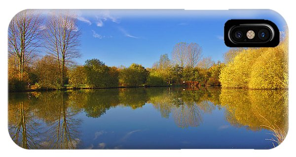 IPhone Case featuring the photograph November Lake 1 by Jeremy Hayden