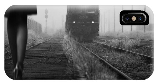 Left iPhone Case - November Passengers by Nicoleta Gabor