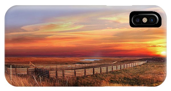 November Sunset On The Cattle Pens IPhone Case