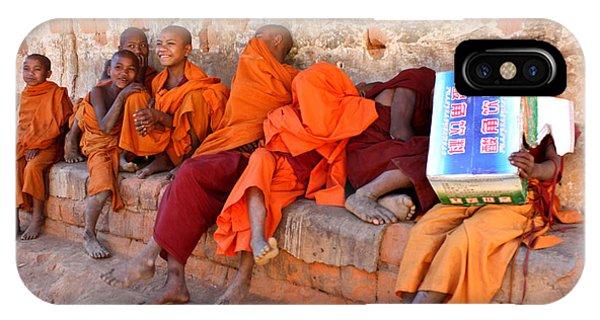Novice Buddhist Monks IPhone Case