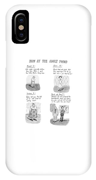 Well Being iPhone Case - Now At The Adult Pound by Roz Chast