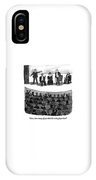 Now, How Many Of You Liked The Viola Player Best? IPhone Case
