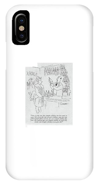 Now, In This One, The Straight Whiskeys Are ?ve IPhone Case