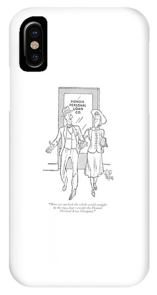 Debts iPhone Case - Now We Can Look The Whole World Straight by George Price