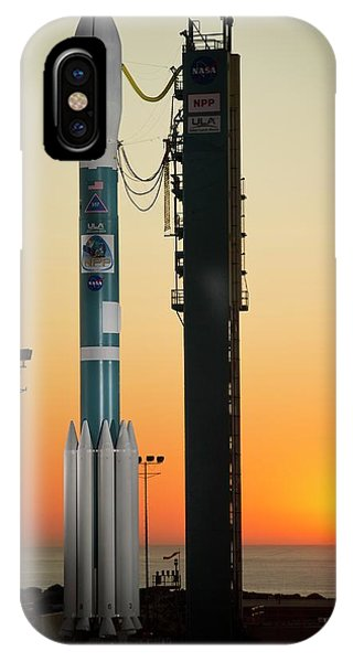 Delta iPhone Case - Npp Satellite Launch Rocket by Nasa/science Photo Library