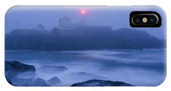 Nubble Light In Foggy Dawn IPhone Case