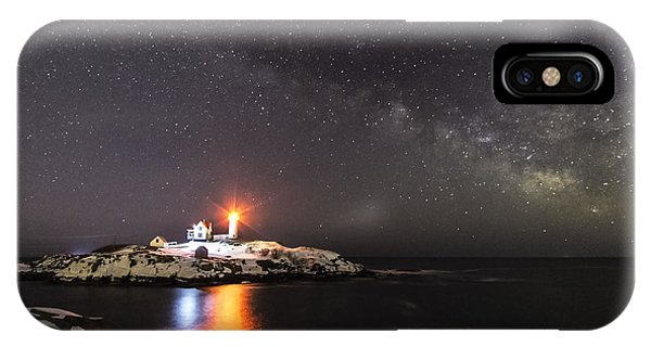 Nubble Light With Milky Way IPhone Case