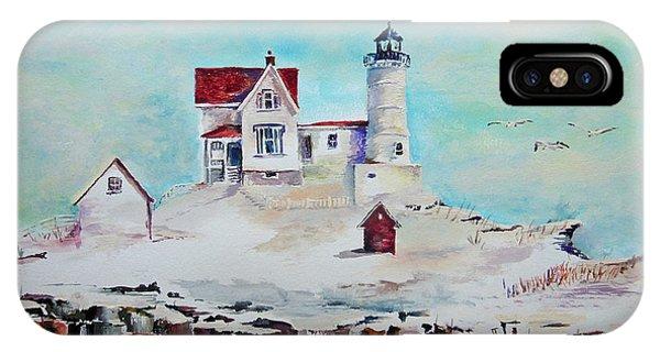 Cape Neddick Lighthouse iPhone Case - Nubble Lighthouse by Gerald Cooley