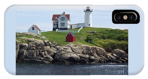 Nubble Lighthouse In Maine IPhone Case