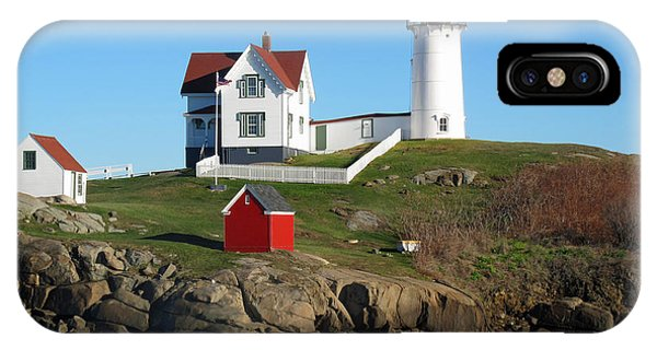 iPhone Case - Nubble Lighthouse One by Barbara McDevitt