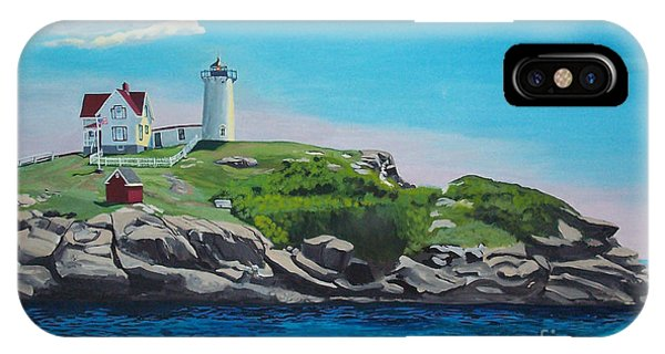 Nubble Lighthouse Sunrise IPhone Case