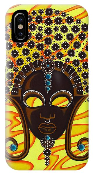 Nubian Modern Afro Mask IPhone Case