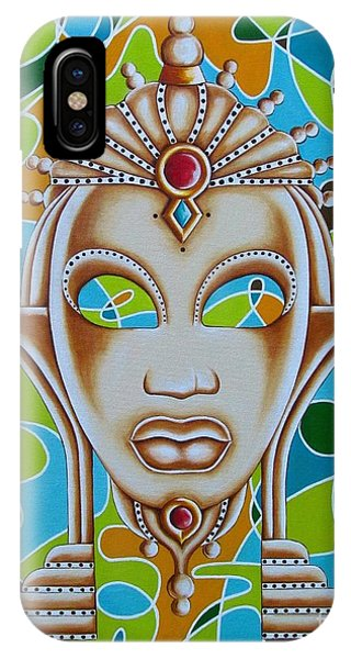 Nubian Modern Ivory Mask  IPhone Case