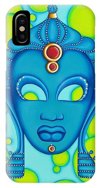 Nubian Modern Mask Blue IPhone Case