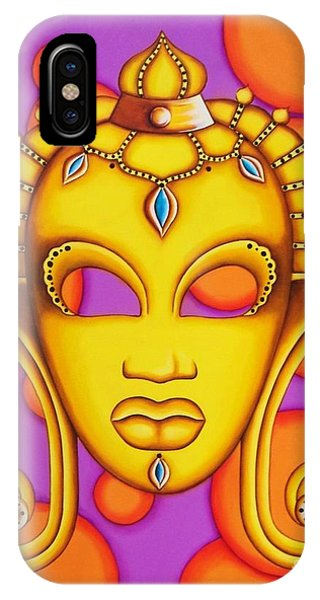 Nubian Modern Mask Gold IPhone Case