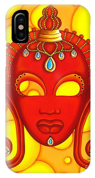 Nubian Modern Mask Red IPhone Case
