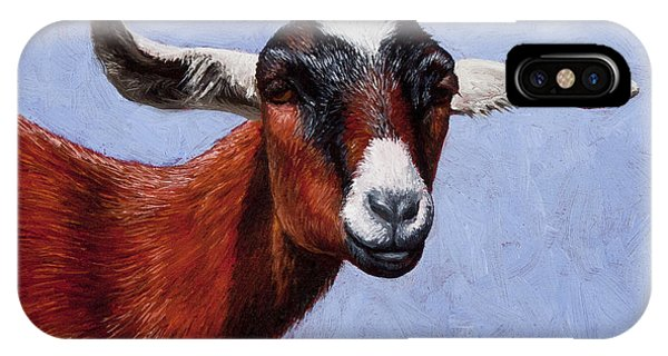 Goat iPhone Case - Nubian Red by Crista Forest